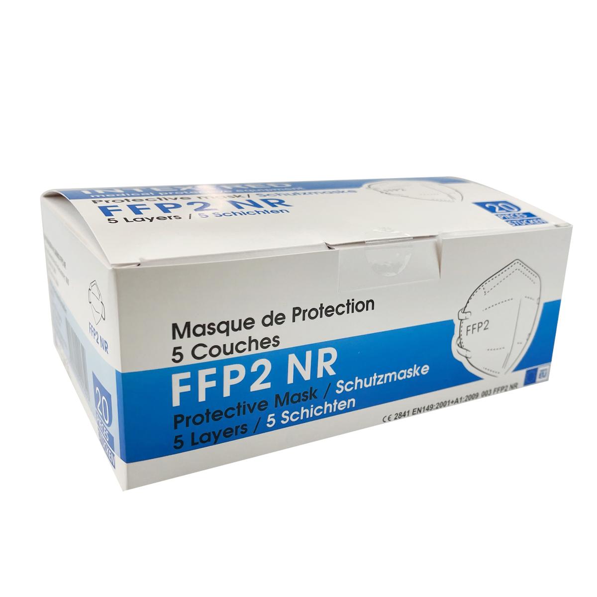 Intextred Schutzmaske - FFP2, ohne Ventil (20 Stk)