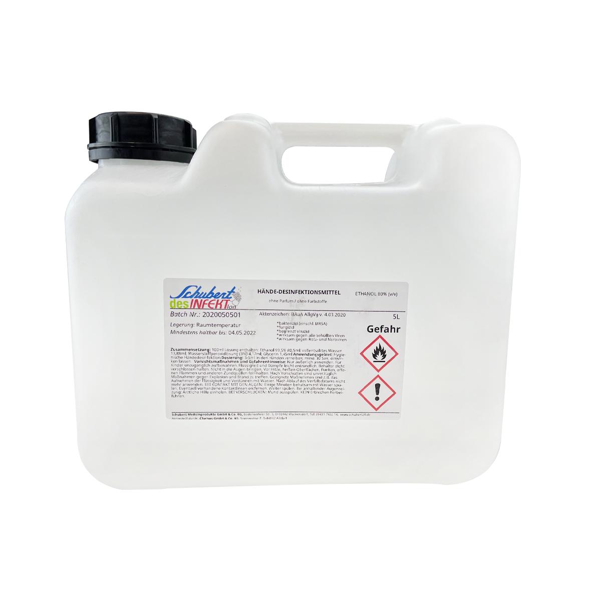 Händedesinfektion - Schubert desINFEKTion - 5 Liter