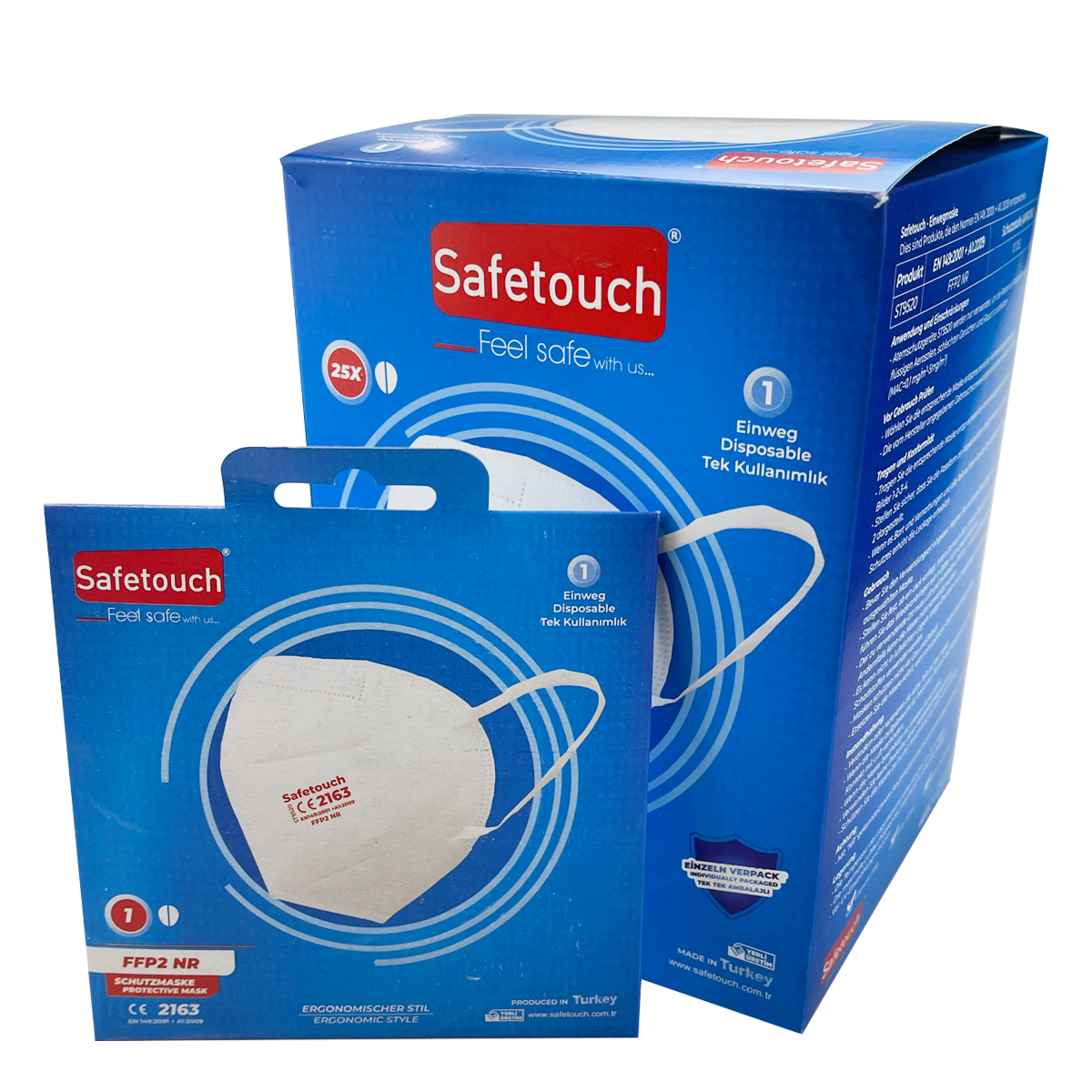 Safetouch Protective Mask - FFP2, ohne Ventil